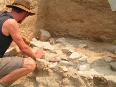 Tim excavating a Middle Stone Age layer