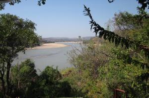 Luangwa River nearing confluence with Zambezi