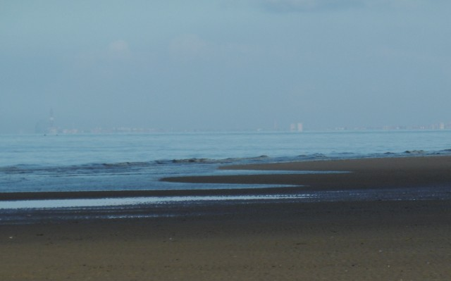 Blackpool is in the distance - you can see the famous tower on the left - a replica of the Eiffel tower
