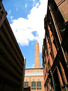 Still chimneys in Manchester - this one on the way to our hotel