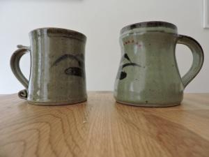 Two mugs, by David Leach