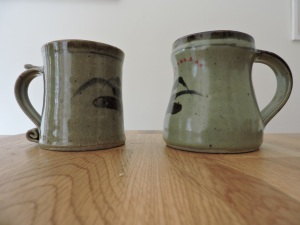 Two mugs, by David Leach