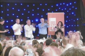 Jeremy Corbyn and Merseyside TUC speakers