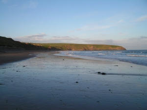 One end of the long beach in Aberdaron