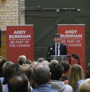 Andy Burnham speaking in the People's Histoyr Museum