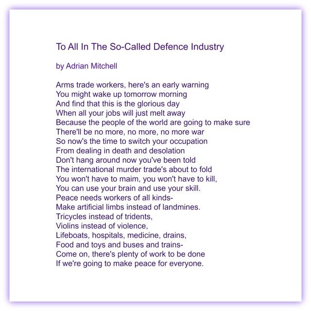 adrian mitchell poem
