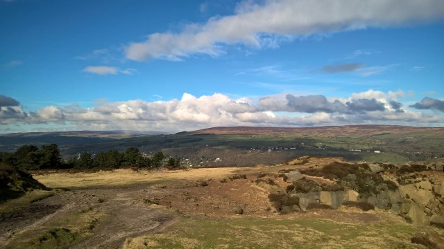 On Yorkshire's famous Ilkley Moor, some 14 miles from Haworth