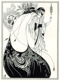 The Peacock skirt by Aubrey Beardsley [Wikipedia, public domain creative commons]