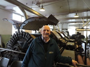 Alan was visiting at the same time as us - he used to work in a nearby engineering factory making equipment for the textile industry. In 1983 his factory closed down and he became a school caretaker 'the best job I ever had'