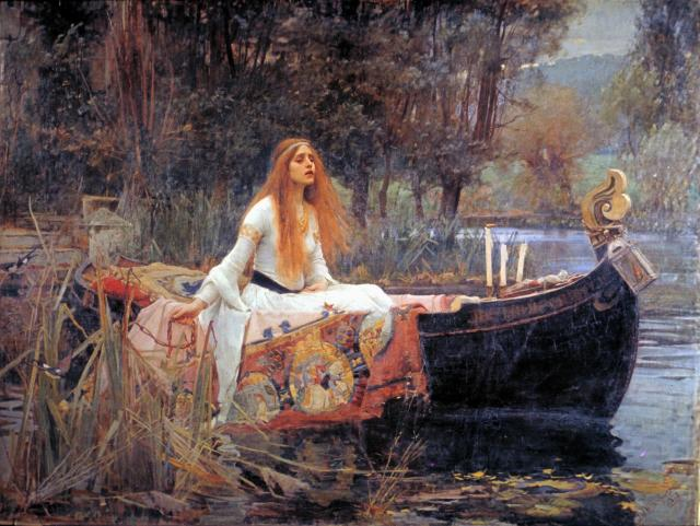 The Lady of Shalott by John William Waterhouse [Wikimedia creative commons]