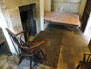 Bedroom of Thomas Bewick, master engraver and artist, at his tiny home at Cherryburn, Northumberland