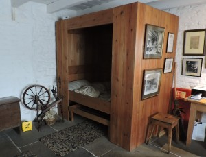 This bedroom was the one room home for the 7 members of the family of George Stephenson, whose famous 'Rocket' steam engine was the first train to run on the first public train line in the world, between Manchester and Liverpool