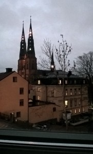 View from our hotel room window, early morning