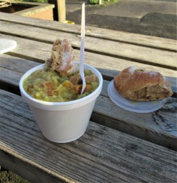 Pea and ham 'soup'