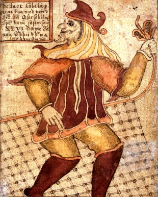 Mischievus, shape-shiftin Loki also from an Icelandic manuscript (via Wikipedia, creative commons)