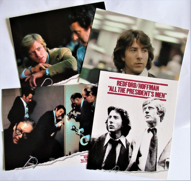 'Collectable' cards from DVD package of the film, 'All the President's Men'